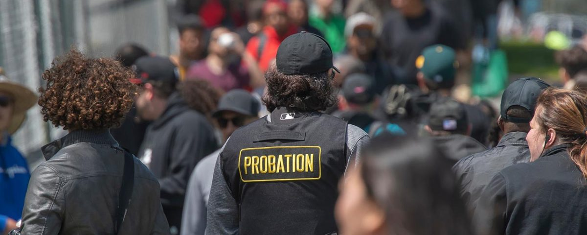 probation office in crowd